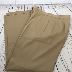 Tan Brooks Brothers 346 High Rise Wool Lined Pants